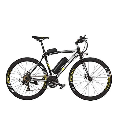 Extrbici City Bike RS600 700C 240W 36V 20A Aleación de aluminio SHIMANO TZ-21 Gears with Fork Suspension