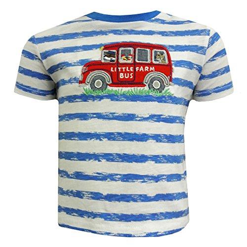 SALT AND PEPPER - T-shirt met korte mouwen baby jongen korte mouwen gestreept Farm Bus, blauw - 73212125