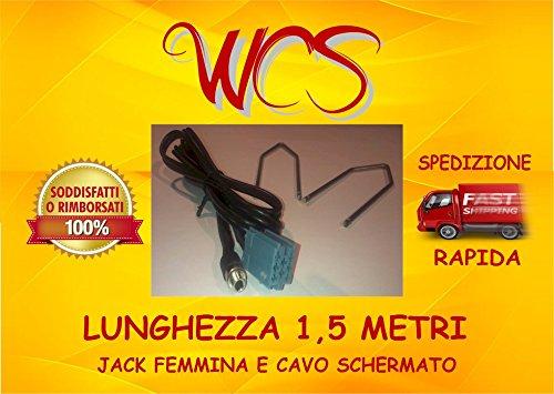 "KIT cavo aux jack femmina Grande Punto, Street, EVO radio Delphi Grundig dal 2010 scritta ""no source available"" 500 e Lancia Ypsilon dal 2013 radio Bosch"