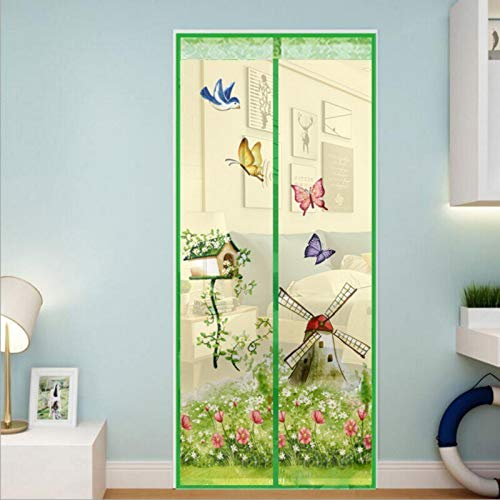 Cortina de pantalla de ventana de mosquitera de malla cerrada de estilo veraniego cortina de ducha de tul magnética anti-mosquito cortina de ducha cortina de puerta de ventana de ventana A2 W80xH210
