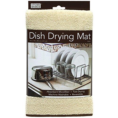 Kitchen Basics 429100 Microfiber Dish Drying Mat, Cream