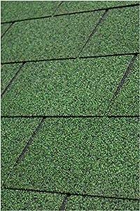 Gartenpirat Tejas bituminosas rectangulares para 2 m² color verde - 14 capas
