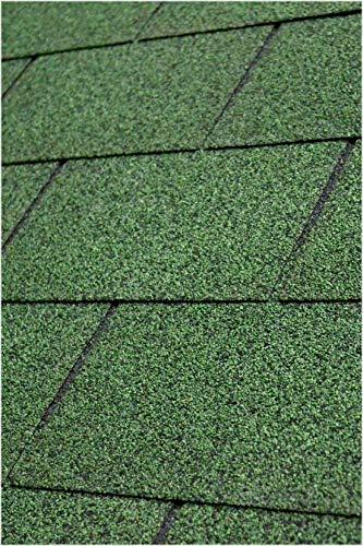 Gartenpirat Tejas bituminosas rectangulares para 3 m² color verde