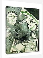 パブロ・ピカソファミリーアートポスター 絵画 インテリア おしゃれ 壁飾り キャンバスウォールアート モダンアート 部屋飾り 写真 壁 に 飾る インテリア(20x25cm8x10inch、額装)