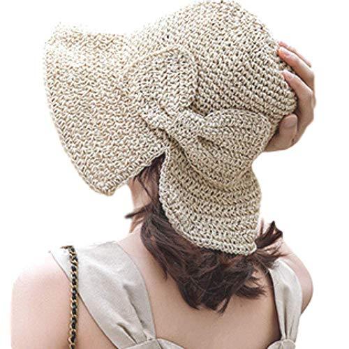 JULLINA レディース UVカット 夏 大きめ つば広 小顔効果 帽子 ニット キャップ 紫外線カット ペーパーコッ...