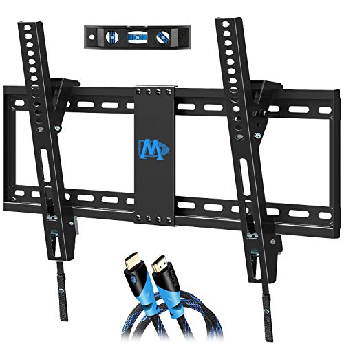 Mounting Dream Tilting TV Wall Mount for Most 37-70 Inches Flat Screen TVs, TV Mount - Wall Mount TV Bracket up to VESA 600x400mm and 132 lbs - Easy to Install on 16', 18', 24' Studs