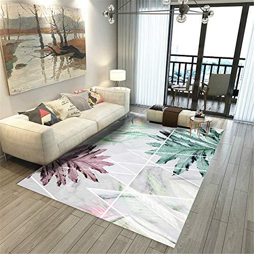 alfombras para salon alfombra gaming suelo Rectángulo moderno de la decoración del dormitorio del modelo de la planta de la alfombra de la sala de estar mesas comedor grandes 120X180CM 3ft 11.2'X5ft 1
