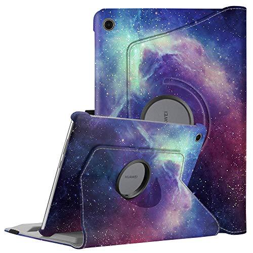 Fintie Huawei MediaPad M5 Lite 10 Hülle - 360 Grad Rotierend Stand Schutzhülle Cover mit Auto Schlaf/Wach Funktion für Huawei MediaPad M5 Lite 10 10.1 Zoll 2018 Modell Tablet PC, Die Galaxie