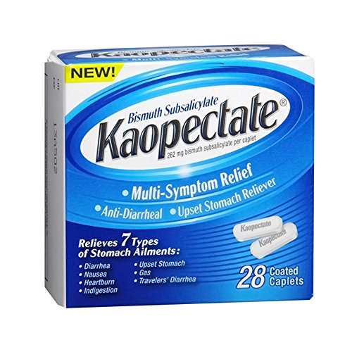 Kaopectate Multi-Symptom Relief Anti-Diarrheal Upset Stomach Reliever Caplets - 28 Ct (Pack 2)