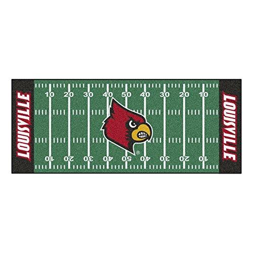 FANMATS NCAA University of Louisville Cardinals Nylon Face Football Field covid 19 (Louisville Football Rug coronavirus)