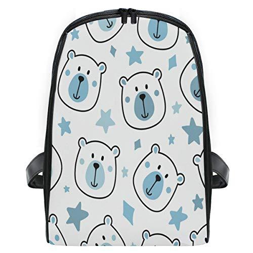 ZZXXB Bear Star Mochila para niños pequeños preescolares de jardín de infancia impermeable para libros de viaje para niños y niñas