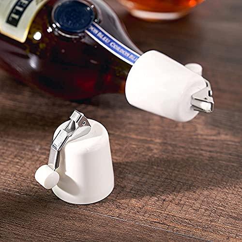 AHURGND 2PCS Tapón de vino Botella Saver Champagne, Tapones de vino para botellas de vino abierto, reutilizable Sellador de tope de botellas para ahorro de vinos, sellador de botellas Mantiene vino fr