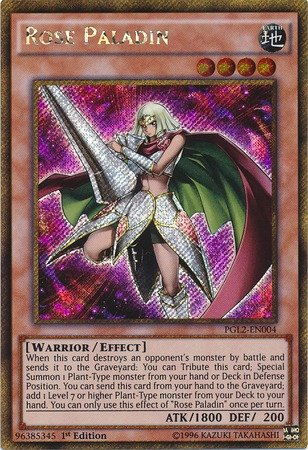 YU-GI-OH! - Rose Paladin (PGL2-EN004) - Premium Gold: Return of The Bling - 1st Edition - Gold Secret Rare