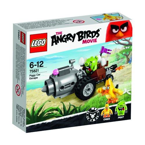 LEGO Angry Birds - Fuga en el Coche de los Cerdos, Juego de construcción (75821)