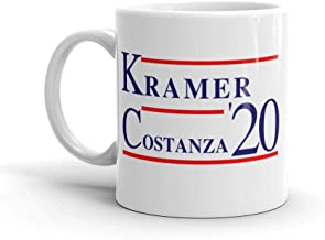 LiberTee Seinfeld Show Cosmo Kramer George Costanza 2020 Coffee Mug, 11 oz Ceramic Seinfeld Mug for Coffee and Tea Drinkers