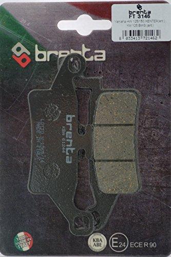 Brenta - Pastillas de freno orgánicas para moto Yamaha HW 125 Xenter, YW 125 BWS, HW 150 Xenter