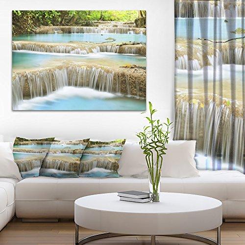 Blue Erawan Waterfall Landscape Photography Canvas Art Print