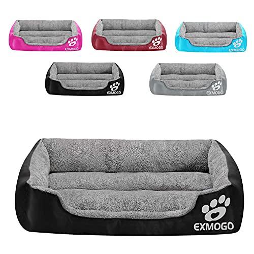 """Cuccia per cani Cuccia per gatti, morbide e comode cucce per animali con cotone PP, adatte per animali di piccola, media e grande taglia L: 69 x53 x15 cm(27 """"x21"""" x6"""") , Nero"""