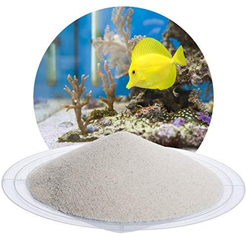 Schicker Mineral Aquariumsand Aquariumkies weiß im 25 kg Sack, kantengerundet, gewaschen, ungefärbt (0,2-0,5 mm)