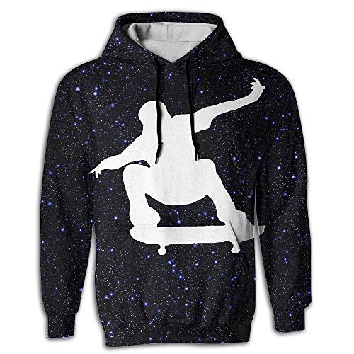 EYSKJ Kapuzenpullover,Hemden Tops Skateboard Skater Men's 3D Pullover Long Sleeve Hoodies Sweatshirt Tops