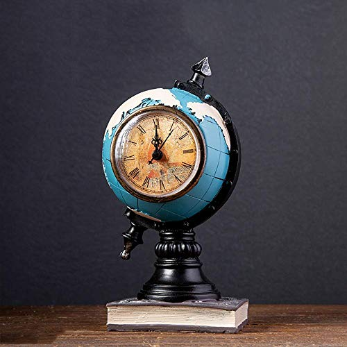 qazwsx Decoración Retro de la máquina de Coser de Ornement para la Barra del café de la Oficina, Escultura de la decoración del hogar de la Vendimia, Relojes del Globo Resina Modelo del violín del