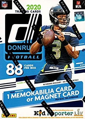 2020 Panini Donruss NFL Football BLASTER box (88 cards/bx)