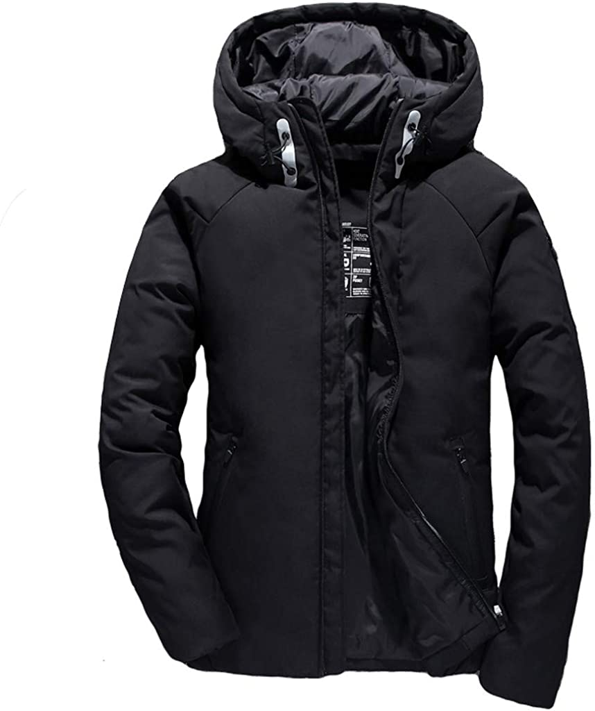 CTAU Outweat Jacket for Mens Autumn Winter Casual Pocket Button Thermal Leather Jacket Top Coat