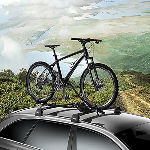 Portabicicletas en el Techo, Porta Bicicleta para Coche, Soporte Bici Universal, Cinchas...