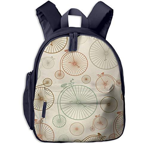 Kinderrucksack Fahrräder Räder Indie Babyrucksack Süßer Schultasche für Kinder 2-5 Jahre