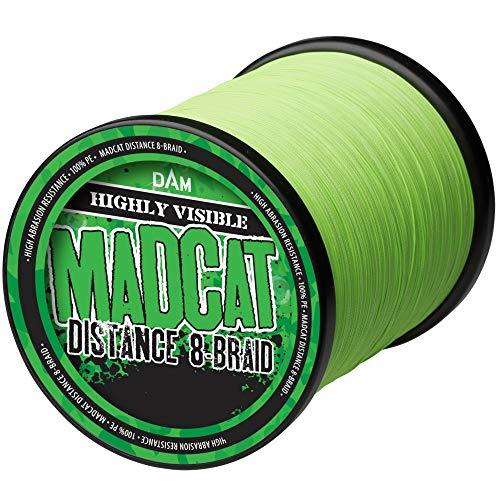 Madcat Cat 0,50mm Distance 8-Braid 52,2kg - 990m Wallerschnur zum Angeln auf Waller, geflochtene Welsschnur zum Distanzangeln, Geflechtschnur zum Long Range Wallerangeln