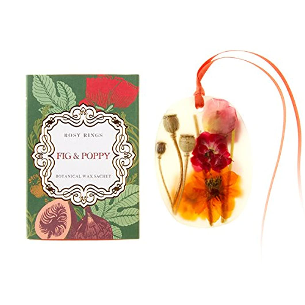 既婚努力する珍味ロージーリングス プティボタニカルサシェ フィグ&ポピー ROSY RINGS Petite Oval Botanical Wax Sachet Fig & Poppy