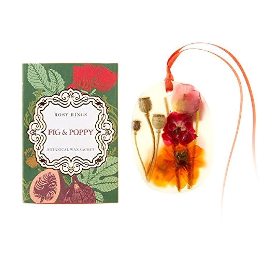 ピン提案ホイールロージーリングス プティボタニカルサシェ フィグ&ポピー ROSY RINGS Petite Oval Botanical Wax Sachet Fig & Poppy