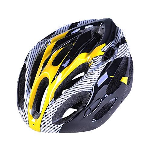 Mzwodmu Allround Cycling Helmets, Lightweight MTB Mountain Road Bike Safety Helmet Breathable Outdoor Cycling Cap Yellow