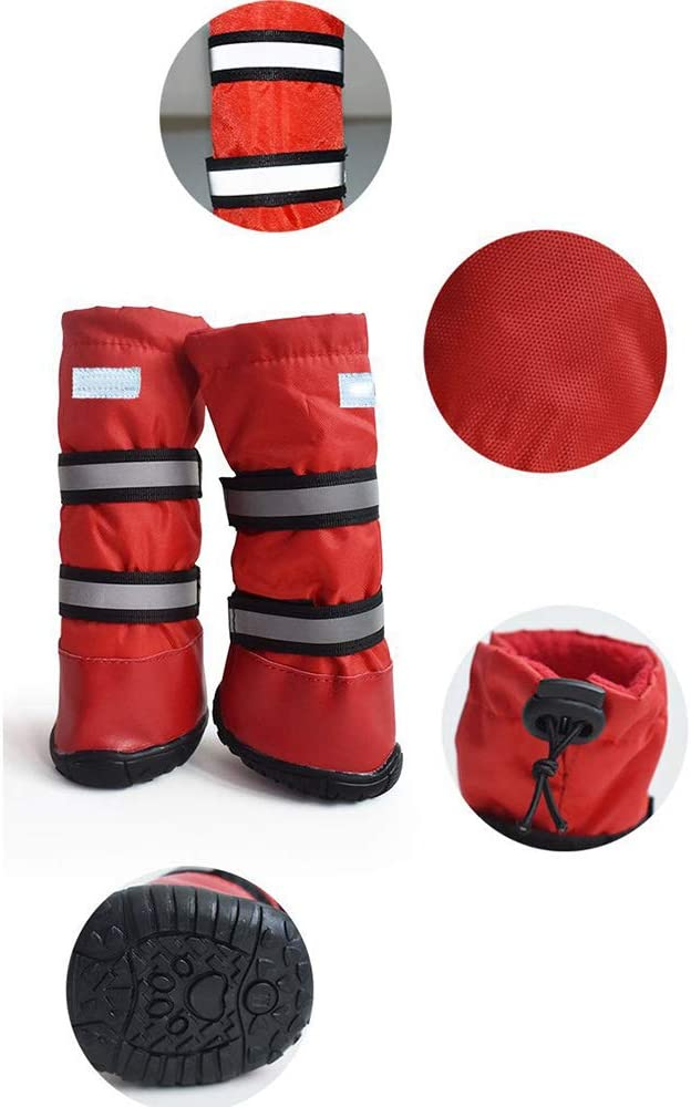 LOVEPET Hundeschuhe wasserdicht Schneeschutz Pet Schuhe Gro/ße Hundeschuhe Universal-Regenstiefel Lange Schuhe