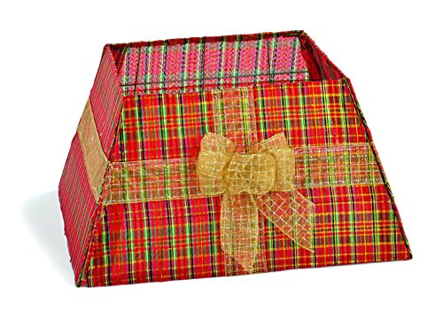 Festive tartan stof boom rok met gouden strik