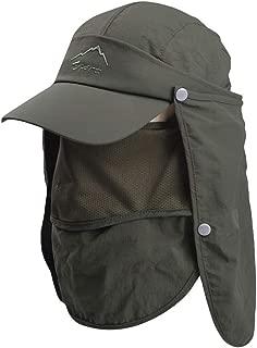 iNoDoZ Summer Outdoor Sun Hat for Man Women Protection Bucket Boonie Cap Solid Adjustable Fishing Hat