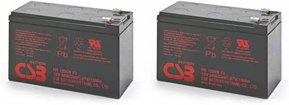 Pair of CSB HR1234WF2 12 Volt/9 Amp Hour (34 Watts) Sealed Lead Acid Battery w/0.250