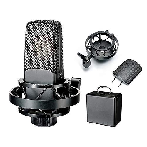 WWK Estudio Micrófono Condensador Set, Broadcast Equipment Profesional Vivo Compatible con Tarjetas...