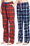 Twist99 Women's Cotton Checkered Pajama for Women Track Pant | Lounge Wear Multicolors Prints Color May Vary (Assorted Pyjama) Combo Pack of 2 (M / 32-34)