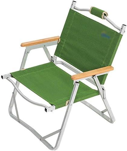 YLCJ Chaise Pliante en Aluminium pour extérieur, avec Dossier   Accoudoirs, Chaise de Camping, Chaise de pêche, Tissu Oxford, Convient aux Loisirs   Camping   Barbecue   Pêche   Plage, 54X55X61Cm
