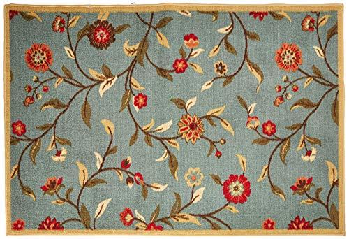 Ottomanson OTH2095-3X5 Ottohome Rug, 3'3' X 5'0', Sage Green Floral
