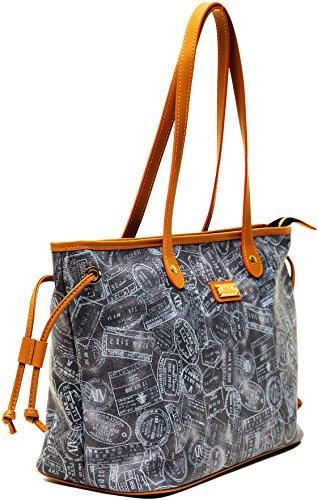 ALVIERO MARTINI Borsa Donna Spalla Denim/Cuoio Shopping Bag Woman...
