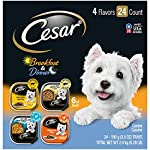 CESAR Soft Wet Dog Food HOME DELIGHTS & Classic Loaf in Sauce Breakfast & Dinner Variety Pack, (24) 3.5 oz. Easy Peel Trays