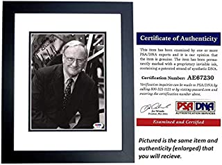 Bo Schembechler Signed - Autographed Michigan Wolverines UM 8x10 inch Photo BLACK CUSTOM FRAME - Deceased 2006 - PSA/DNA Certificate of Authenticity (COA)