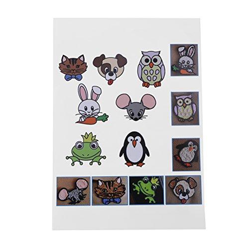 Starworld 3d-Schablonen, 3d, Bücher für Doodle-Muster, mit transparenten, Geschenk für Kinder (20VERSCHIEDENEN 40Blatt Muster, verschiedene Designs) - 7