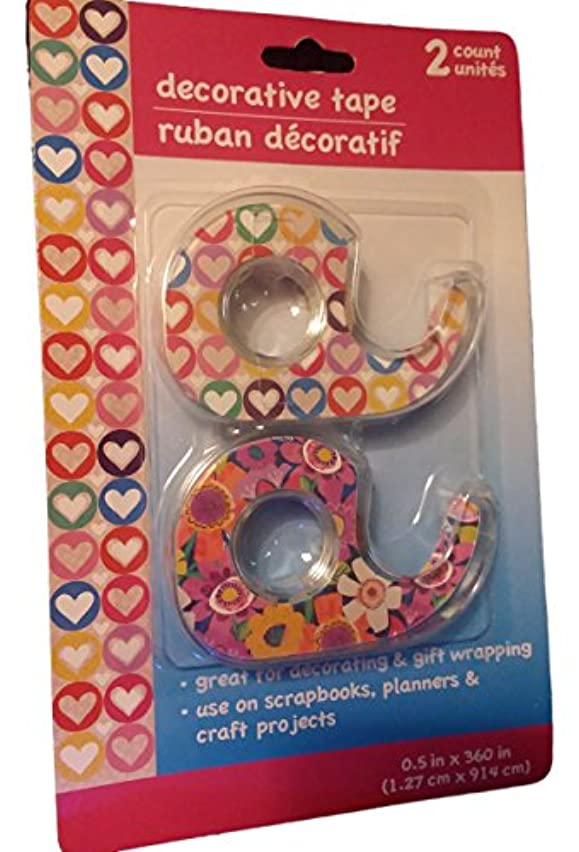 Decorative Tape, Floral & Heart, 2 count