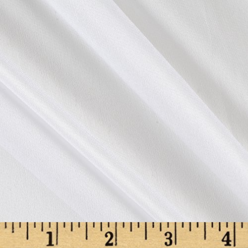 Preview Textile Group 100% Silk Chiffon White Fabric By The Yard