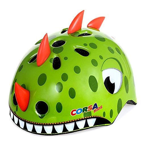 Anharluka Cycling Helmet Cool Dinosaur Tricycle Helmet Big Wheel Helmet for Child,Youth Multi-Sport Helmet