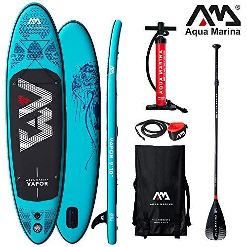 Aqua Marina Stand Up Paddle Board Vapor 315 x 79 cm SUP hinchable (bote hinchable, canadiense, canadiense, canoa, canoa, canoa, tiempo libre, pesca, remo, canadiense, río, lago)