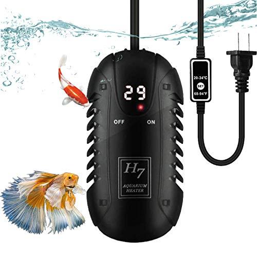 Bonheur 水槽用ヒーター LEDデジタル 20-34℃ オートヒーター 淡水海水両用 魚 亀 水中式 日本語取扱説明書付き (50W)